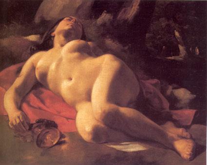 La Bacchante - Gustave Courbet