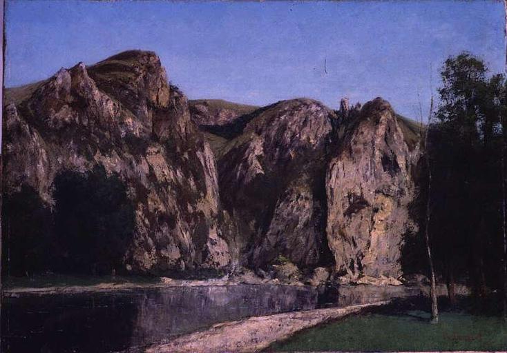 La Meuse a Freyr, 1856 - Gustave Courbet