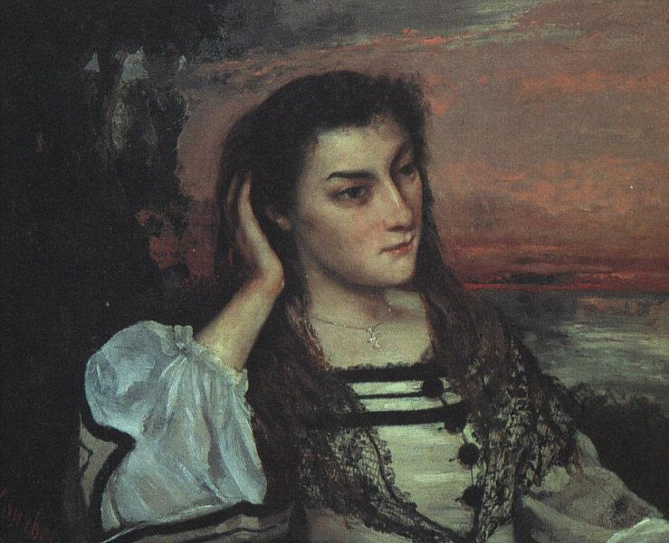 Portrait of Gabrielle Borreau - Gustave Courbet