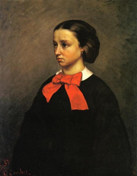 Portrait of Mlle. Jacquet, 1857 - Gustave Courbet