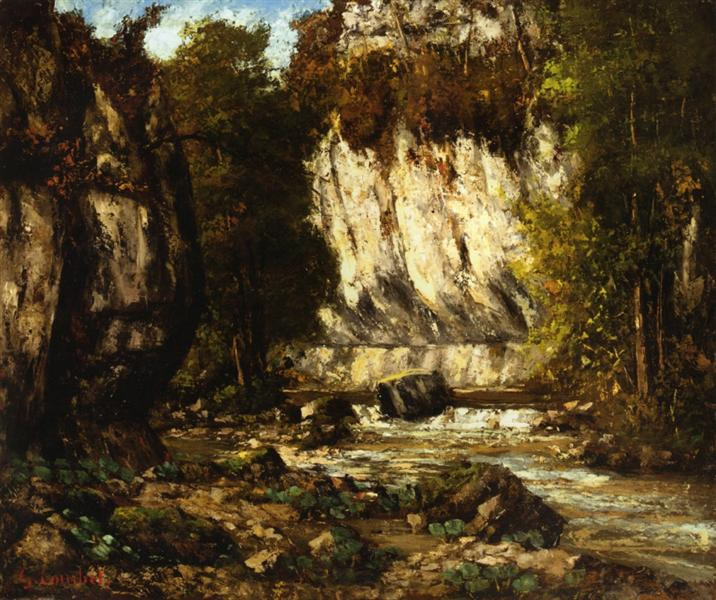 River and Cliff, 1865 - Gustave Courbet