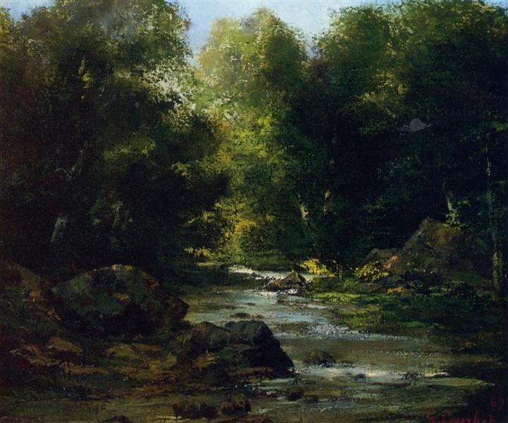 River Landscape, 1869 - Gustave Courbet