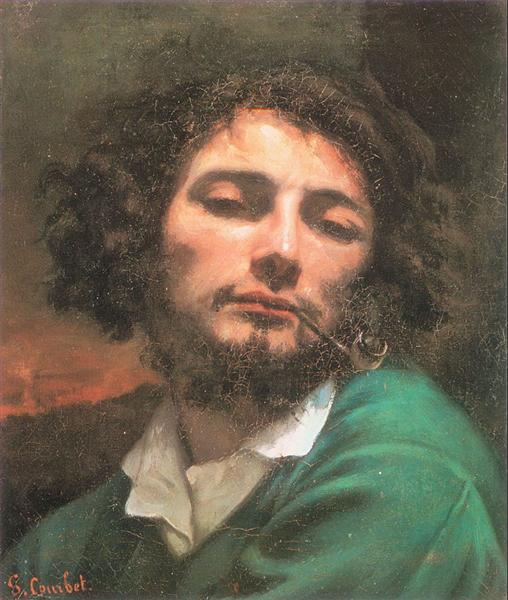 Self-Portrait (The Man with a Pipe), 1848 - 1849 - Gustave Courbet