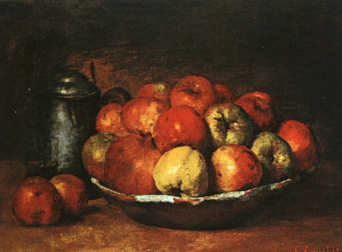 Still Life with Apples and Pomegranates - Gustave Courbet