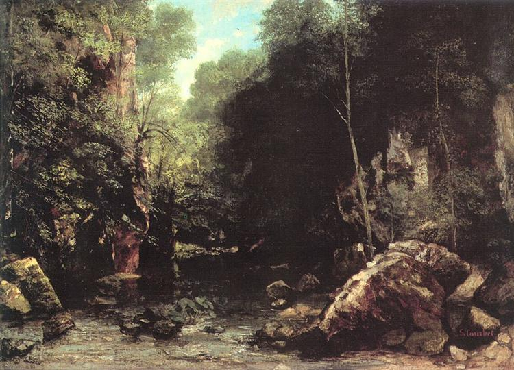 The Black Creek, 1865 - Gustave Courbet