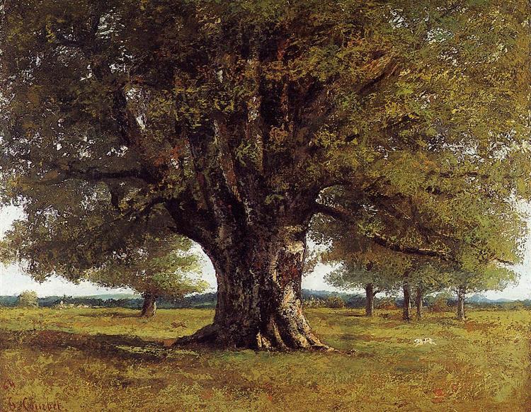 The Oak of Flagey (The Oak of Vercingetorix), 1864 - Gustave Courbet