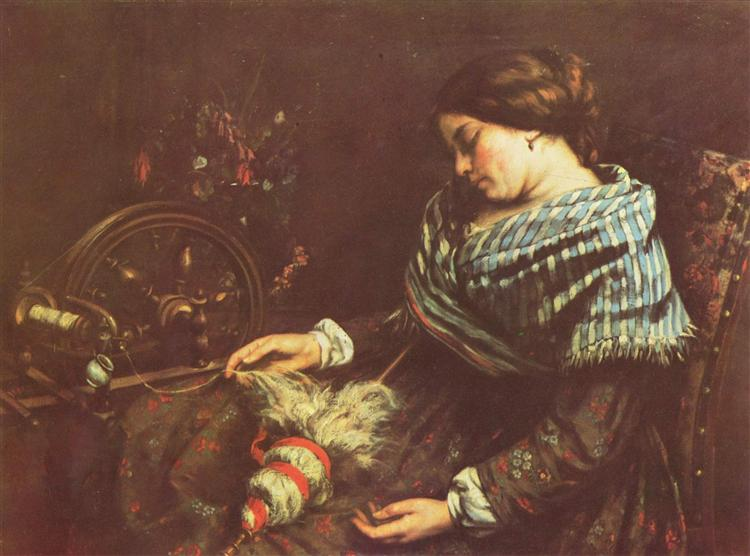 The Sleeping Embroiderer - Courbet Gustave