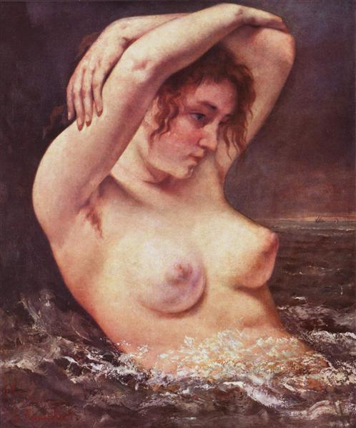 The Woman in the Waves (The Bather), 1868 - Gustave Courbet