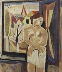 Nude by a window - Густав де Смет