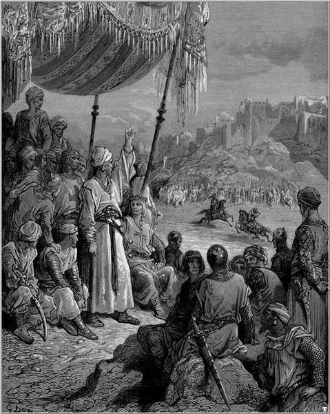 A Friendly Tournament during the Third Crusade in 1189 - Dore Gustave