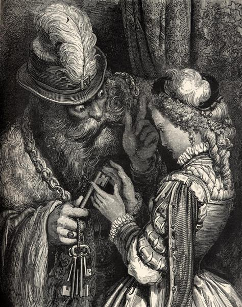 Bluebeard, 1862 - Gustave Dore
