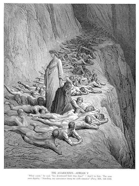 Dante and Pope Adrian V, c.1868 - Gustave Dore