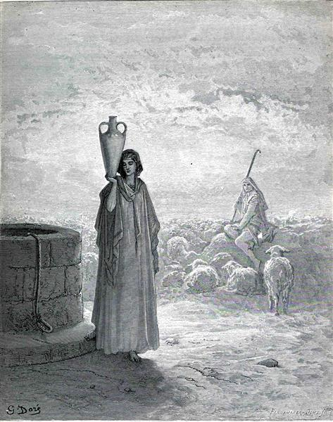 Jacob Keeping Laban's Flock, 1866 - Gustave Dore