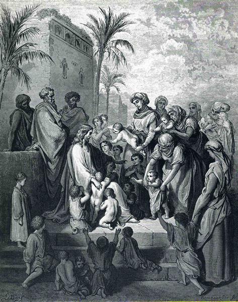 Jesus Blessing the Children - Gustave Dore