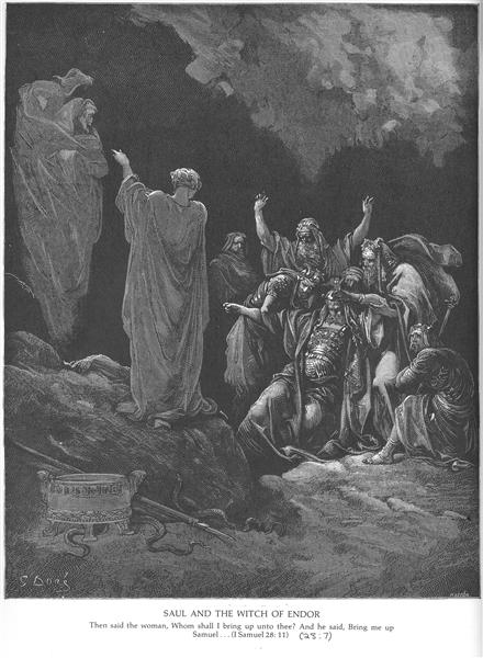 Saul and the Witch of Endor - Dore Gustave