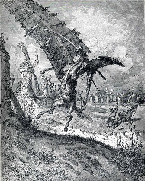 The Adventure with the Windmills - Dore Gustave