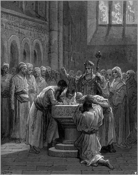The Baptism of Infidels - Gustave Dore