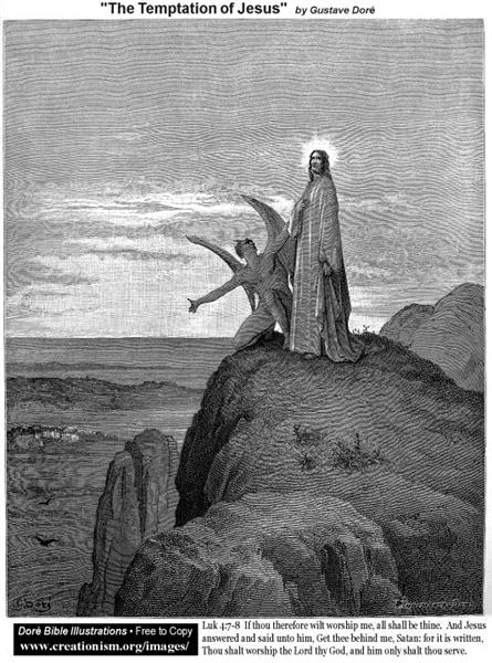 The Temptation Of Jesus - Gustave Dore