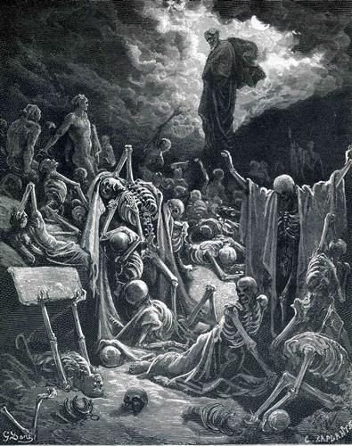 The Vision of the Valley of Dry Bones - Gustave Dore