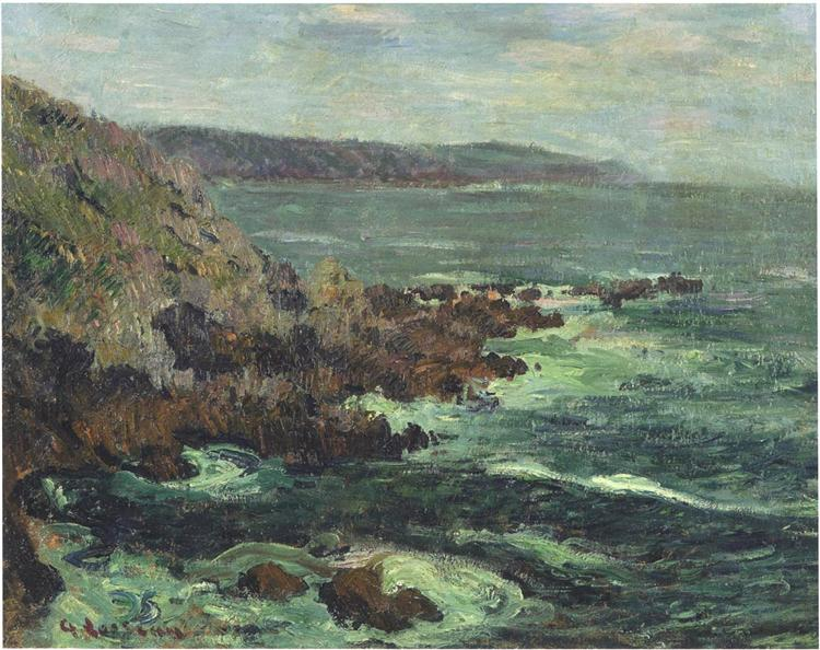 Rock Cliffs by the Sea in Britain, 1906 - Gustave Loiseau