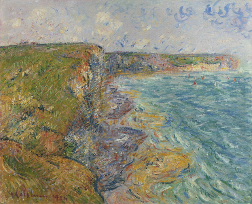 Картинки по запросу giclee painting: loiseau's sailboats near the cliffs, yport; voiliers