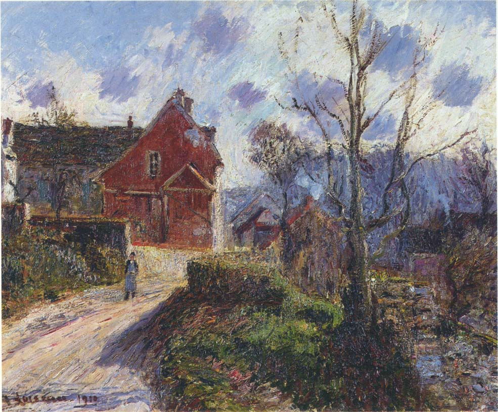 The Red Painted House   Gustave Loiseau