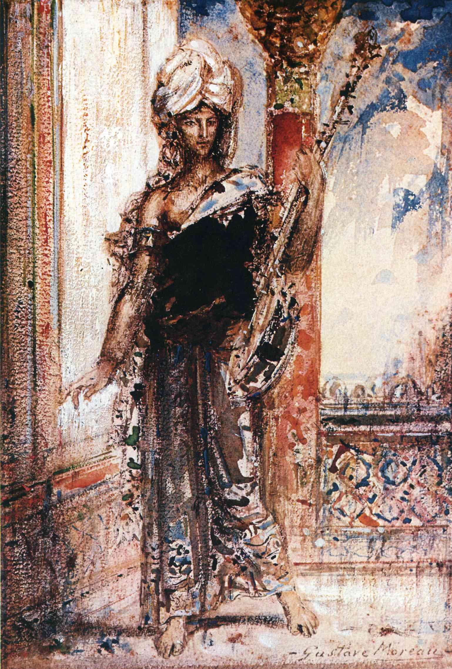 an arabian singer  1884 - gustave moreau