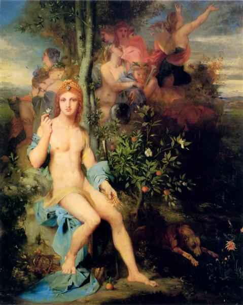 Apollo and The Nine Muses, 1856 - Gustave Moreau