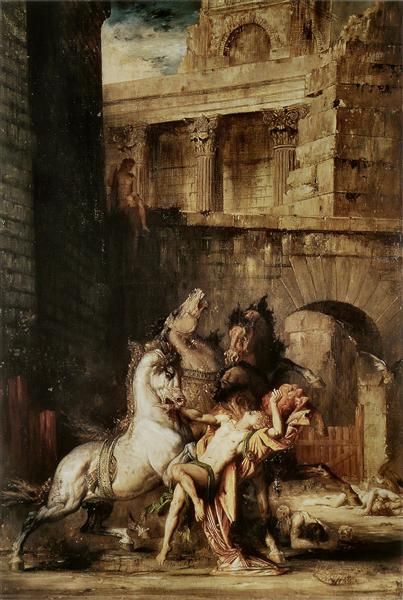 Diomedes Being Eaten by his Horses, 1865 - Гюстав Моро