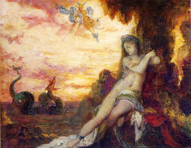 Perseus and Andromeda, c.1870 - Gustave Moreau