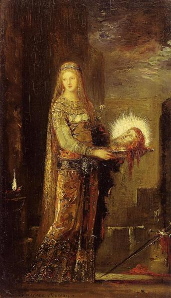 Salome Carrying the Head of John the Baptist on a Platter - Moreau Gustave