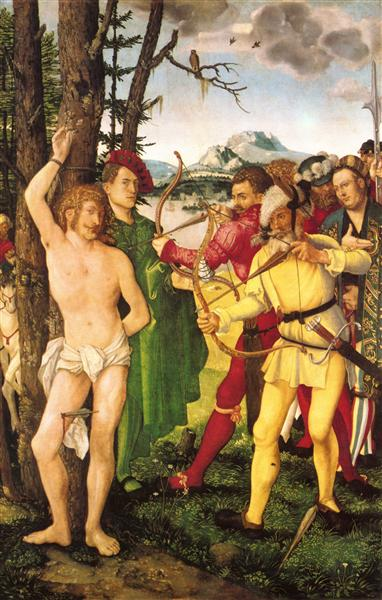 Altarpiece with The Martyrdom of St. Sebastian, 1507 - Hans Baldung