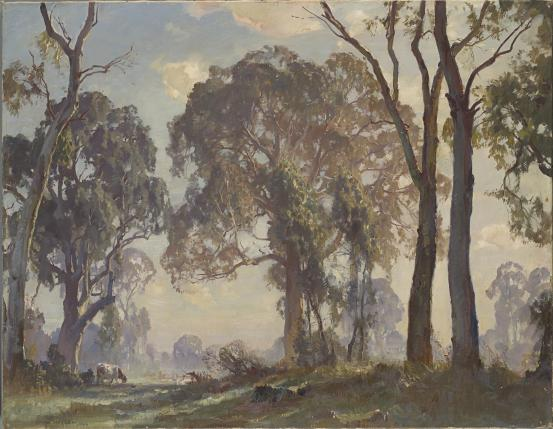 Edge of the clearing, 1926 - Hans Heysen