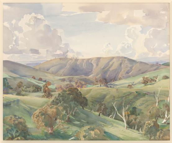 Pewsey Vale, 1933 - Hans Heysen
