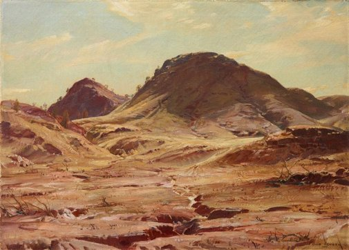 The Hill of the Creeping Shadow, Flinders Ranges, 1929 - Hans Heysen