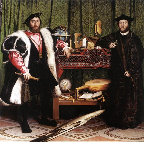 The Ambassadors, 1533 - Hans Holbein the Younger