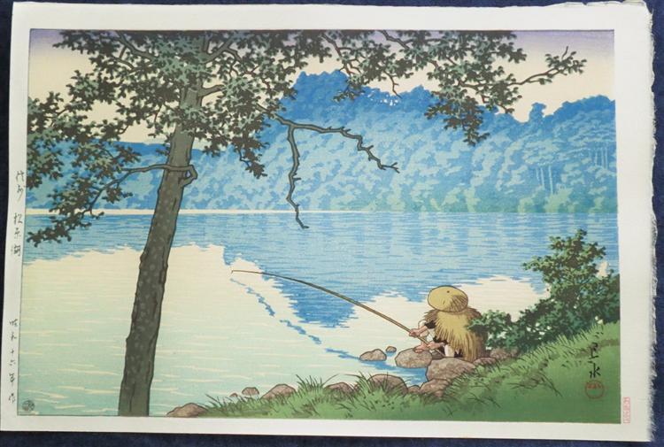 Lake Matsubara in the Morning, Shinsu, 1941 - Hasui Kawase