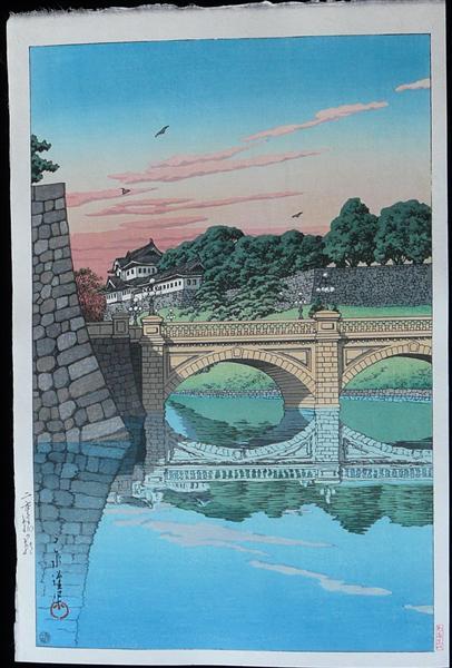 Morning at Nijubashi Bridge, 1930 - Hasui Kawase