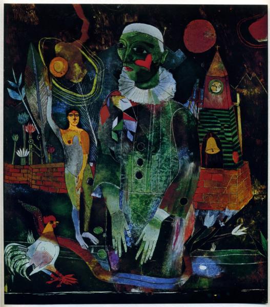 Pierrot (with Serpent), 1923 - Heinrich Campendonk