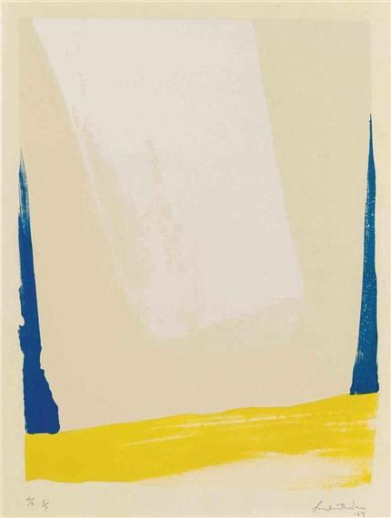 White Portal, 1967 - Helen Frankenthaler