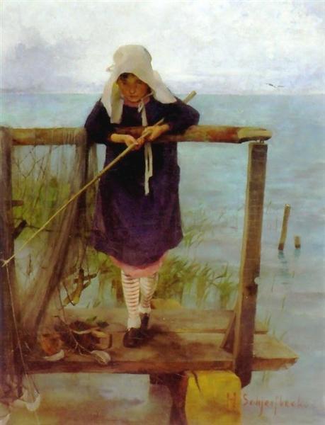 Girl Fishing, 1884 - Helene Schjerfbeck