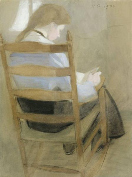 Girl Reading - Helene Schjerfbeck