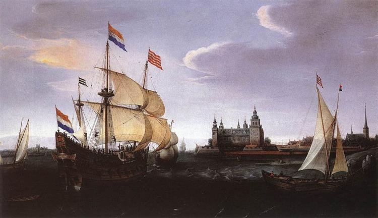 Arrival of a Dutch Three-master at Schloss Kronberg, 1614 - Hendrick Cornelisz Vroom