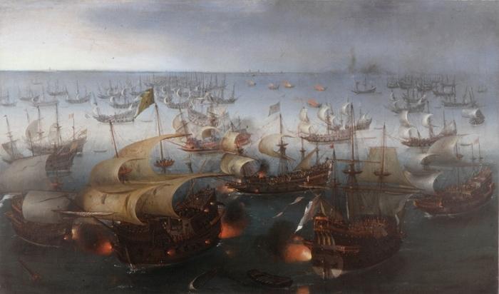 The Battle with the Spanish Armada, 1601 - Hendrick Cornelisz Vroom