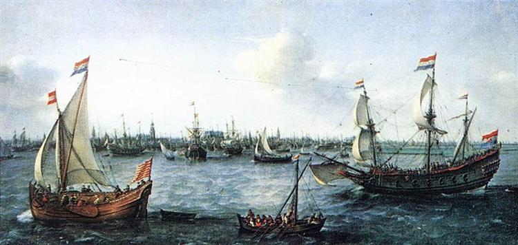 The Harbour in Amsterdam, 1630 - Hendrick Cornelisz Vroom