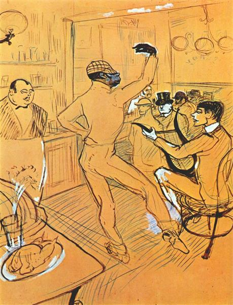 Chocolat dancing in the Irish and American Bar, c.1896 - Henri de Toulouse-Lautrec