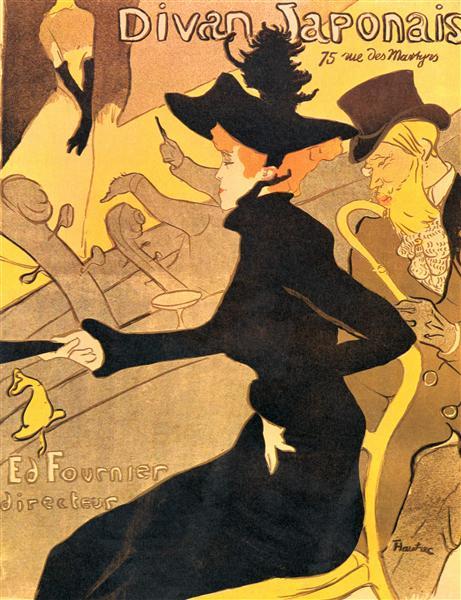 Le Divan Japonais, 1892 - 1893 - Henri de Toulouse-Lautrec