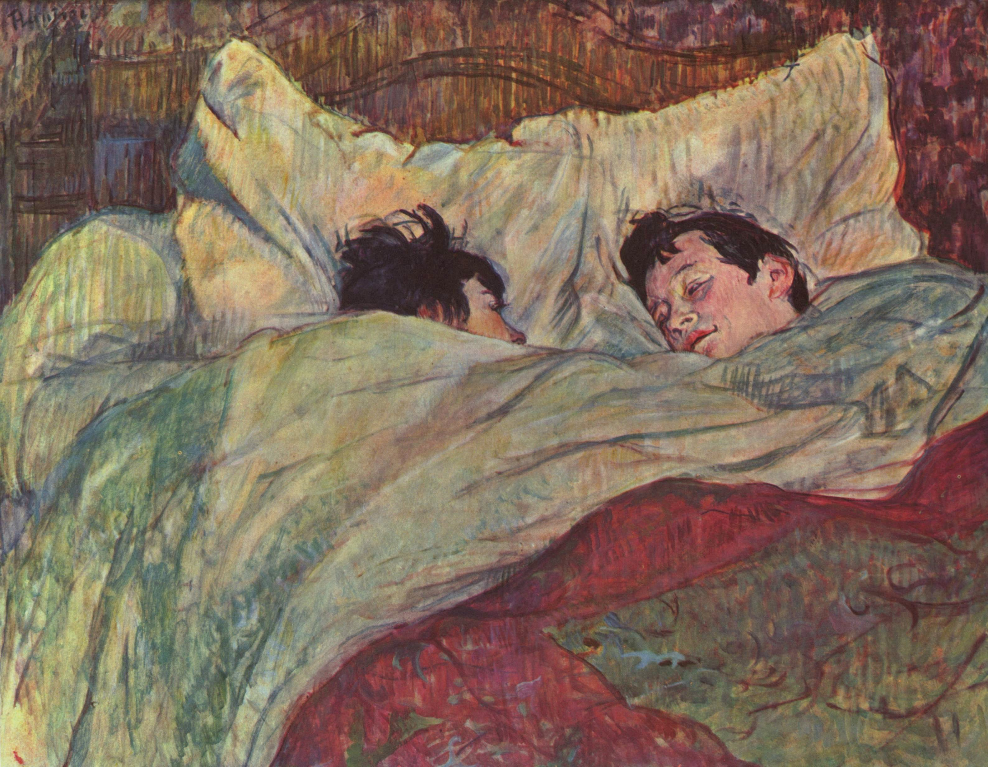 In bed, 1893 - Henri de Toulouse-Lautrec - WikiArt.org: https://www.wikiart.org/en/henri-de-toulouse-lautrec/in-bed-1893