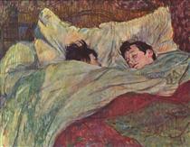 In bed - Henri de Toulouse-Lautrec