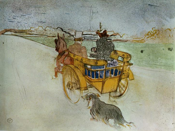 La Charrette Anglaise The English Dog Cart, 1897 - Henri de Toulouse-Lautrec